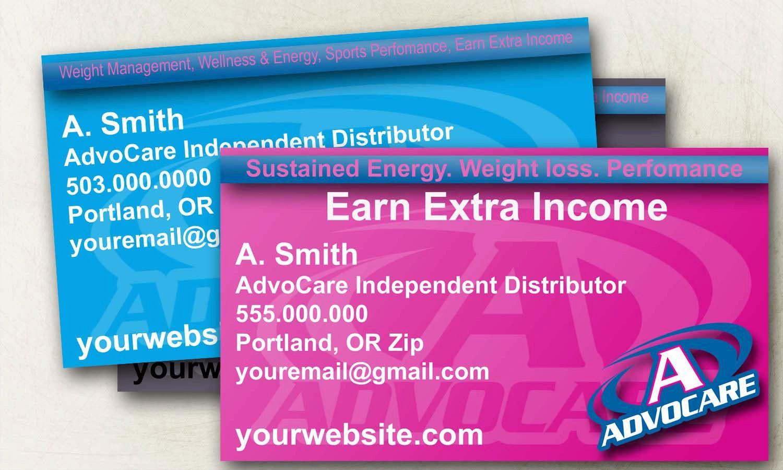 custom advocare business cards 1000 via etsy - Advocare Business Cards