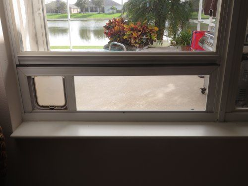 Best Window Mounted Cat Door Ideas Spiffy Pet Products