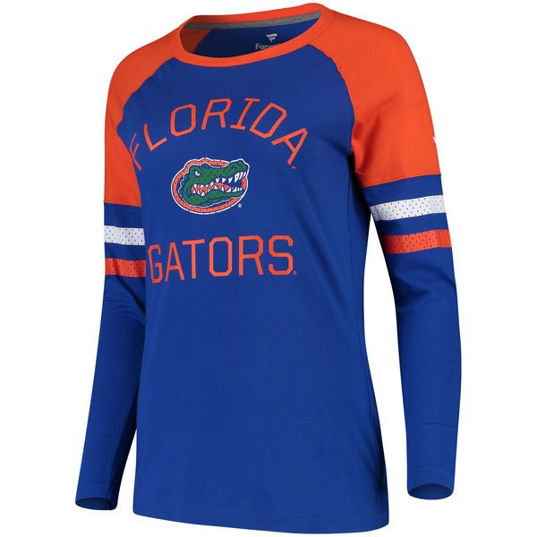 Women S Fanatics Branded Royal Orange Florida Gators Iconic Sleeve Stripe Scoop Long Sleeve T Shirt Long Sleeve Tshirt Men New Outfits T Shirt