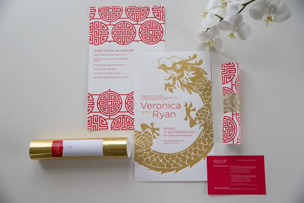 Chinese America Wedding Invitation I Like The Double Happiness