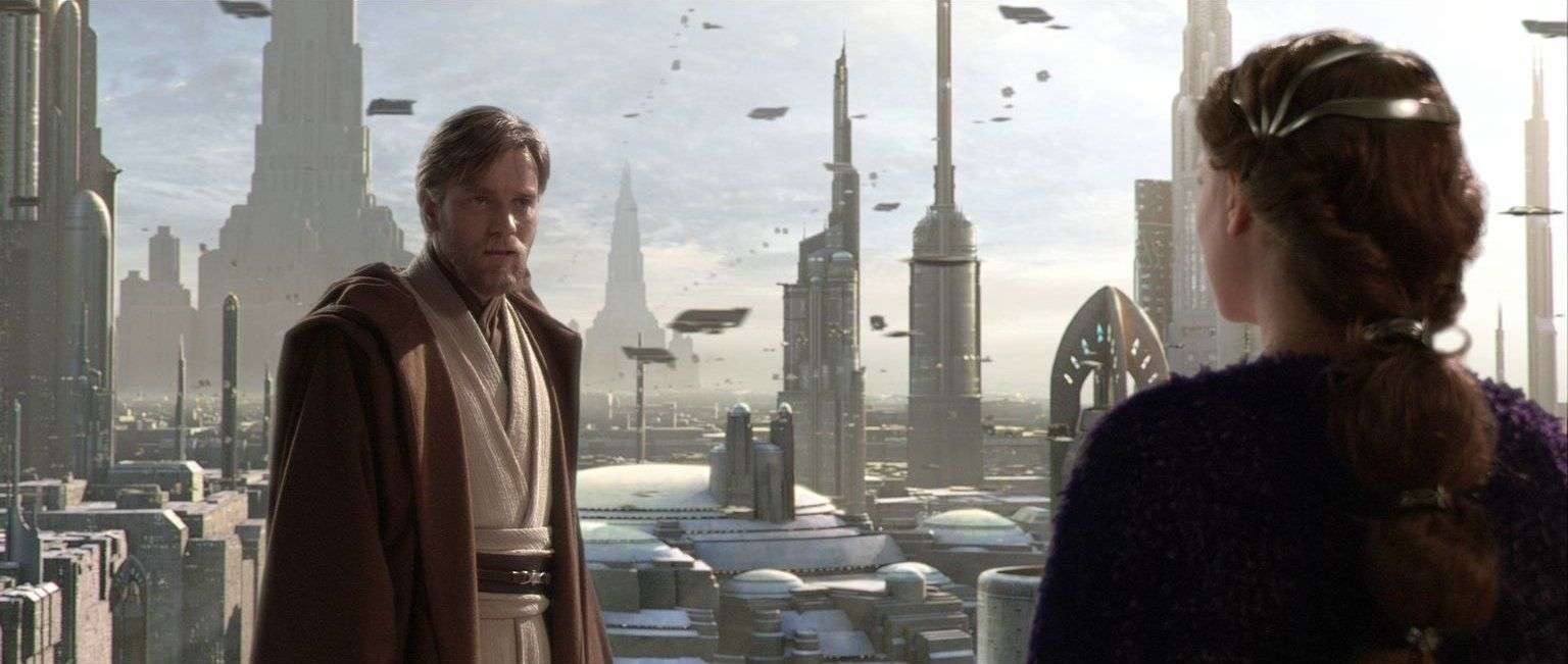 Clear photo of obi-wan's tabards overlapping.