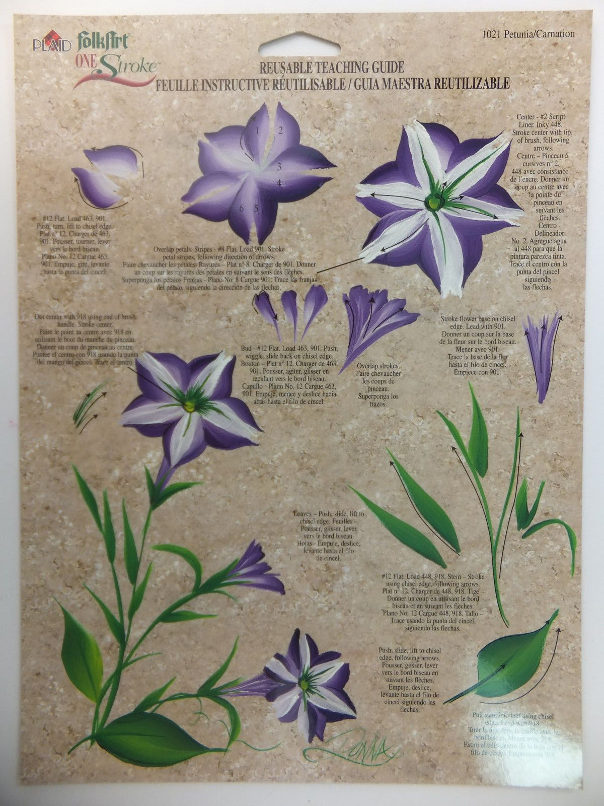 Donna Dewberry One Stroke Painting Rtg Worksheet Flowers Leaves Amp Fruit U Pick