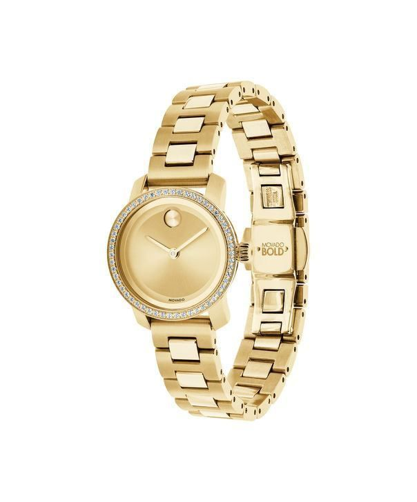 9405961f2 Stainless Steel Mailbox · Movado BOLD Small Women's Gold-Plated Diamond  Watch 3600215. This women's dress watch has