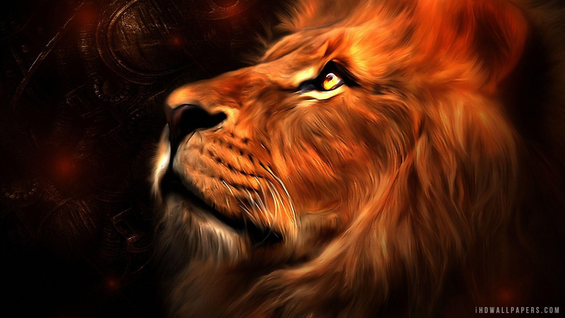 Lion Art Hd Wallpaper Ihd Wallpapers Lion Wallpaper Lion
