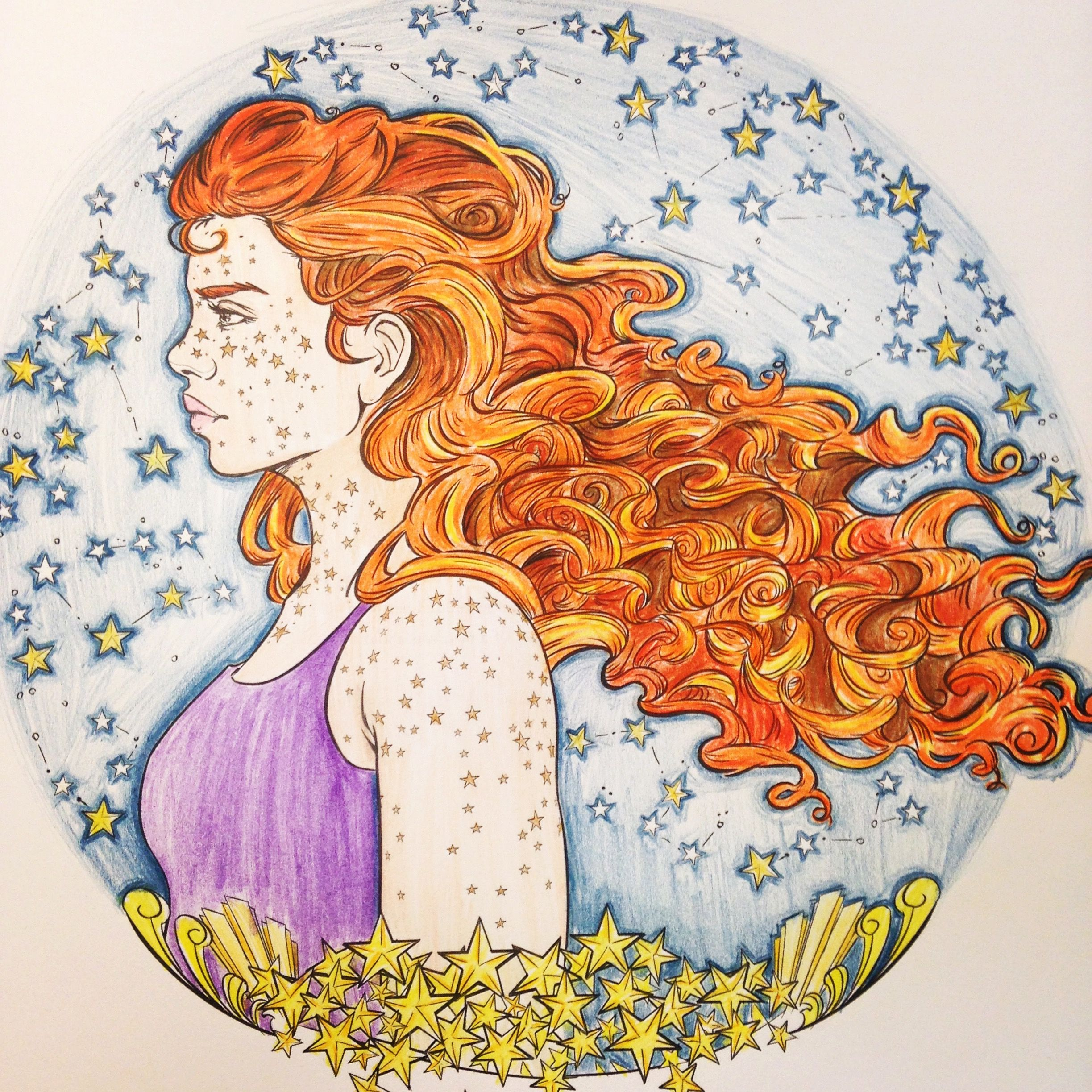 My Rendition Of Scarlet From The Lunar Chronicles Coloring Book
