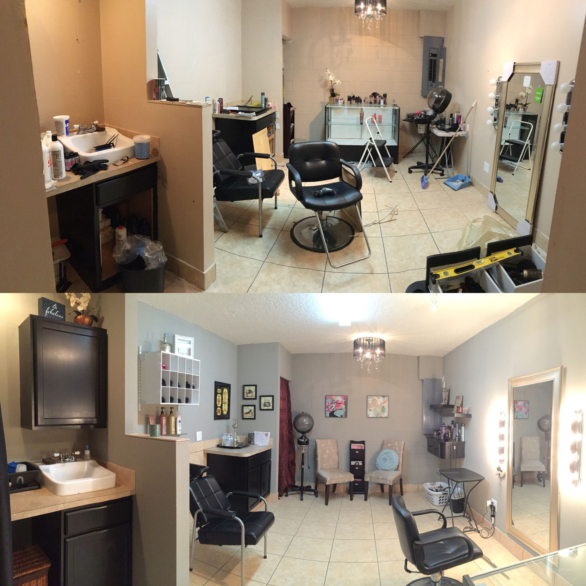 Hair salon  Home hair salons, Home salon, Beauty salon decor