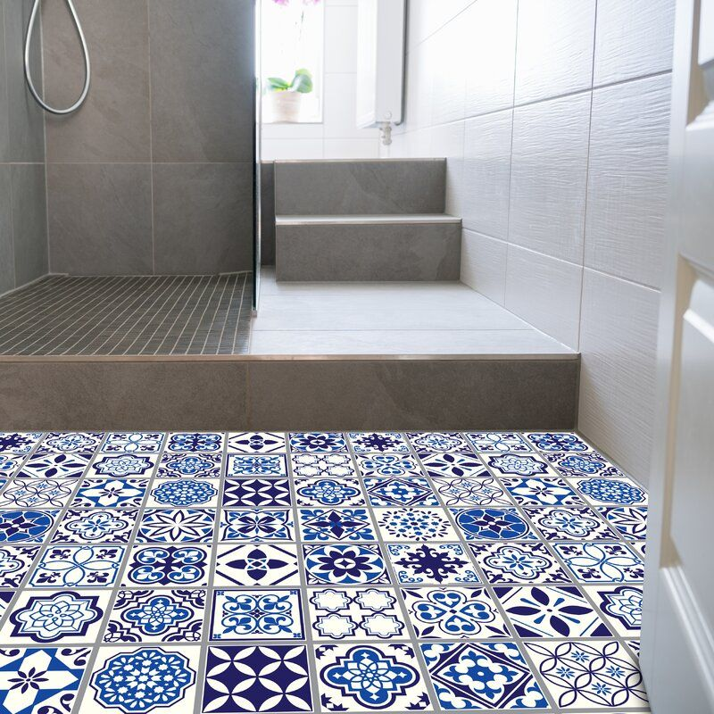 Waller 120x60 Cm Mosaic Tile In Blue White In 2020 Moroccan Blue Moroccan Tile Bathroom Mosaic Tiles