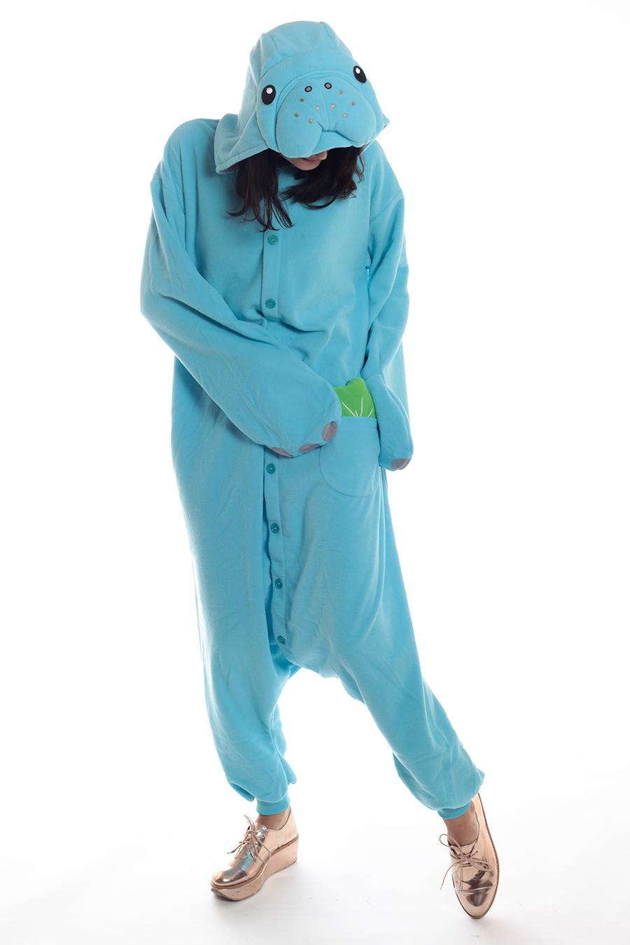 c50ba83056 Manatee Adult Animal Kigurumi Onesie Costume Pajamas
