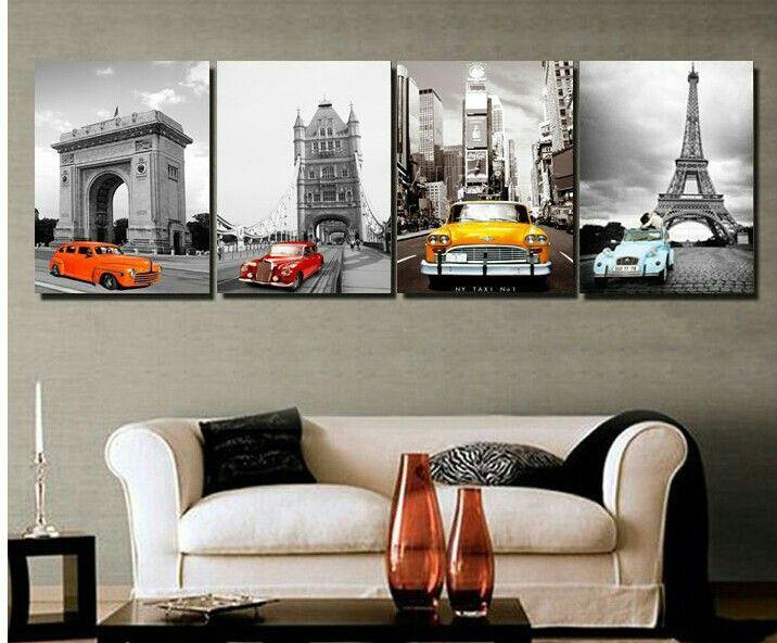 Cuadros para sala fotos sala comedor - Pintura para salones modernos ...