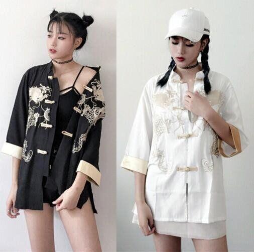 Black/white embroidery coat SE8784 #whiteembroidery