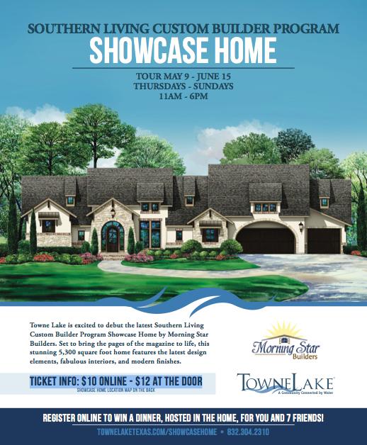 Flyer For Southern Living Custom Builder Program Showcase Home In Houston  2014