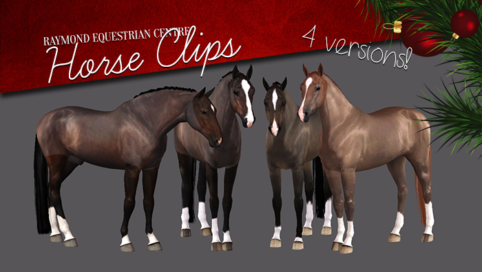 A Set Of 4 Horse Clips For The Winter Time Download Sims 4 Pets Sims Pets Sims 3 Mods
