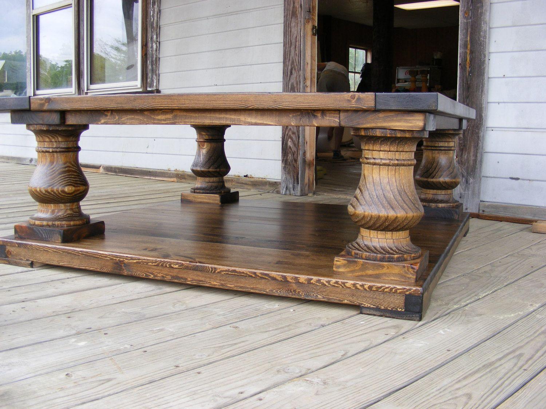 48x48x19 Dark Walnut Wood Finish Balustrade Coffee Table Etsy Walnut Wood Coffee Table Cool Coffee Tables [ 1125 x 1500 Pixel ]