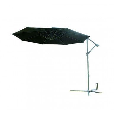 Buy 3m Garden Sun Cantilever Parasol Patio Banana Hanging Umbrella Black New |Homcom