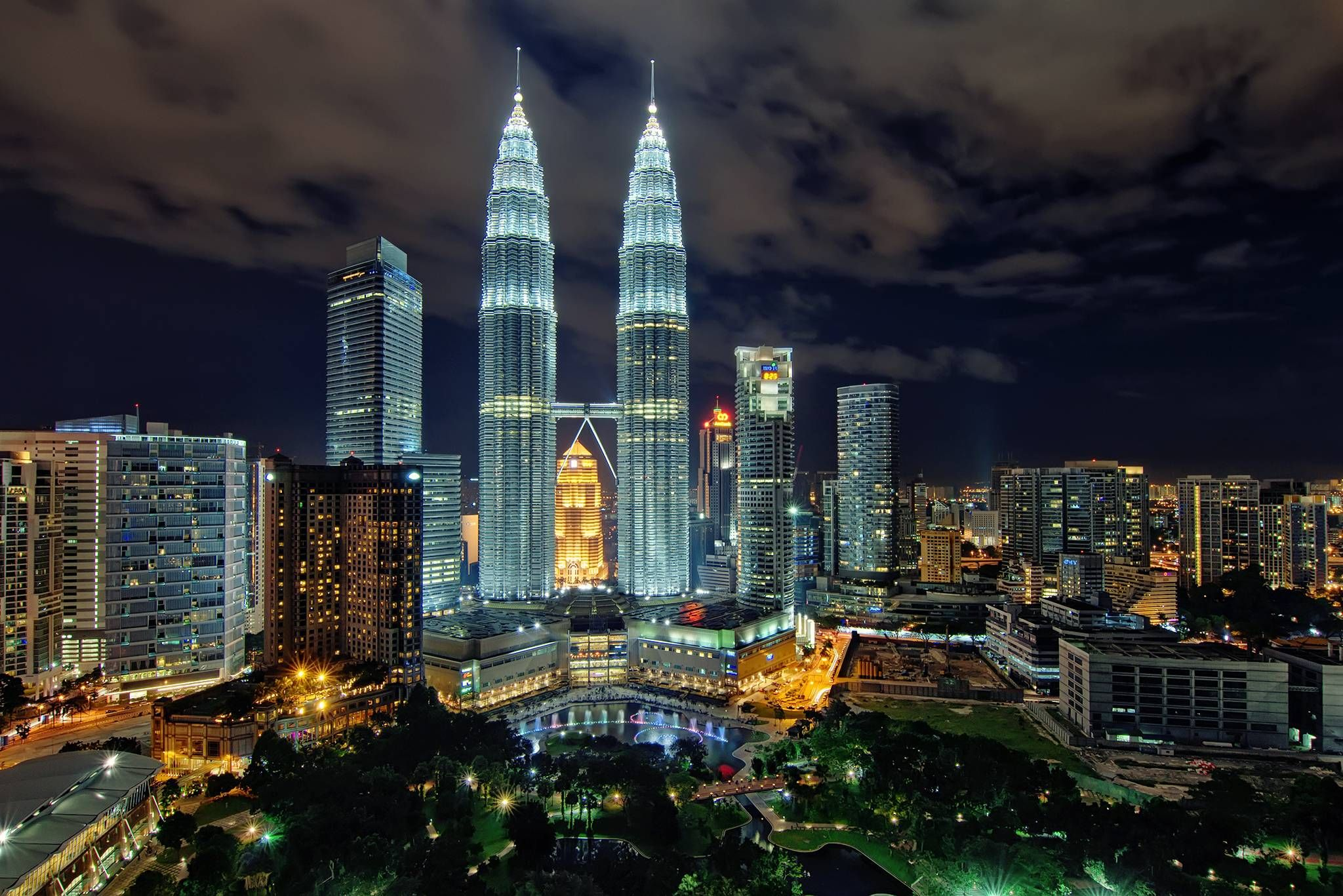 Photo of the petronas towers at night kuala lumpur malaysia kuala lumpur is home to the tallest twin buildings in the world the petronas twin towers which have become an iconic symbol of malaysias futuristic buycottarizona Gallery