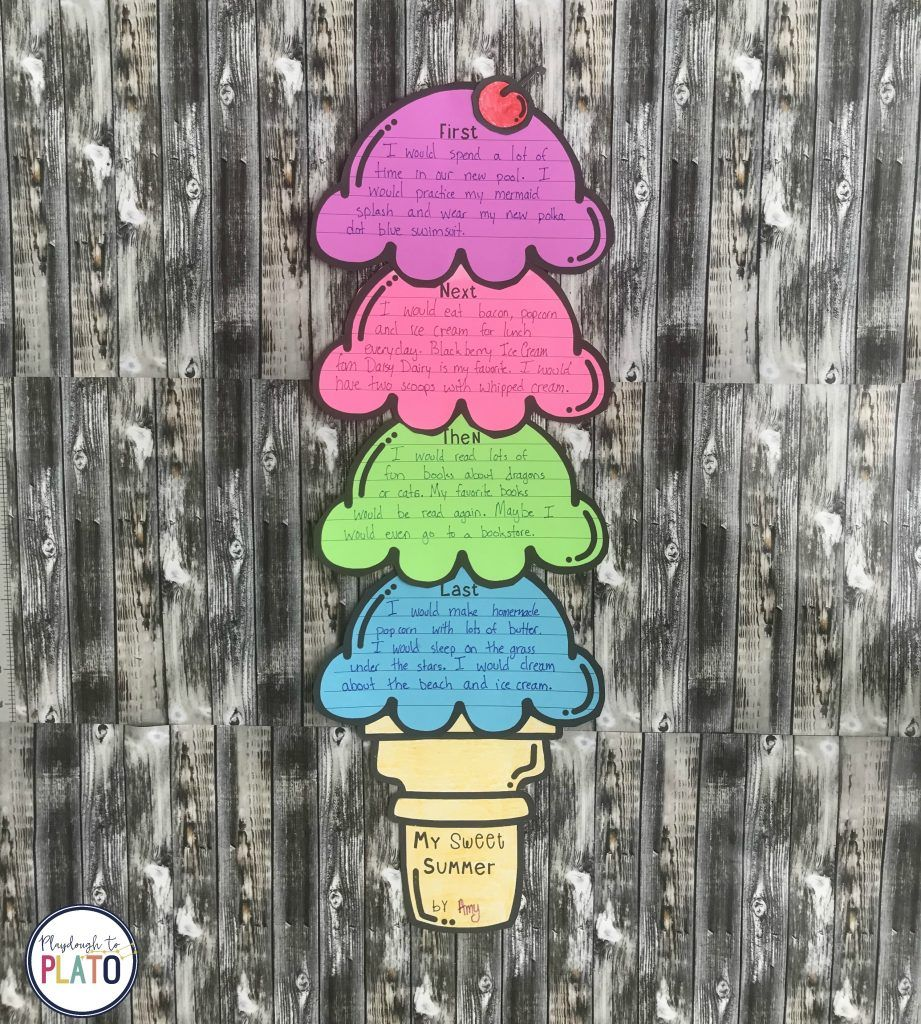 Ice Cream Writing Craftivity - Playdough To Plato