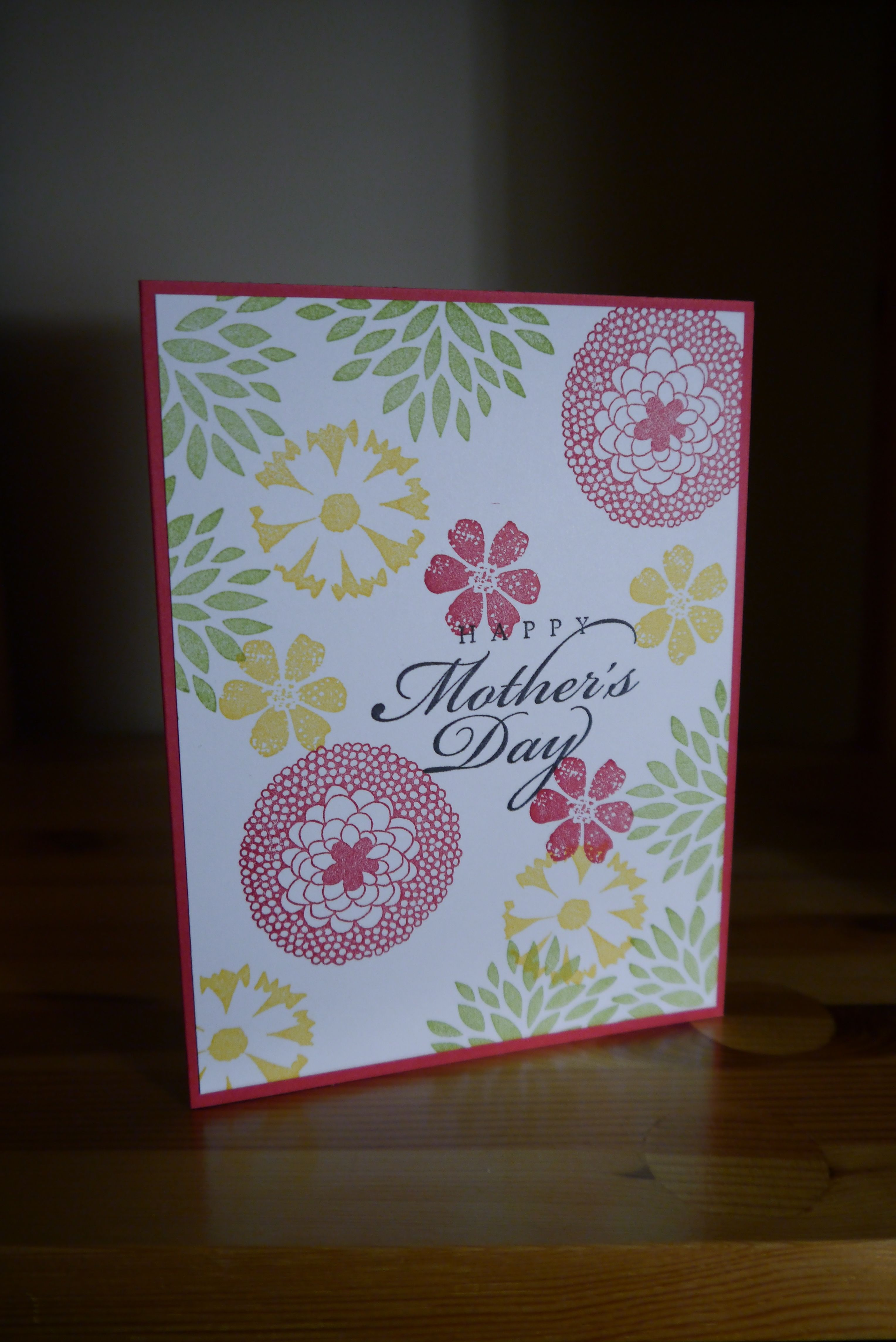 Handmade mothers day card stampinup motherdsday things i love