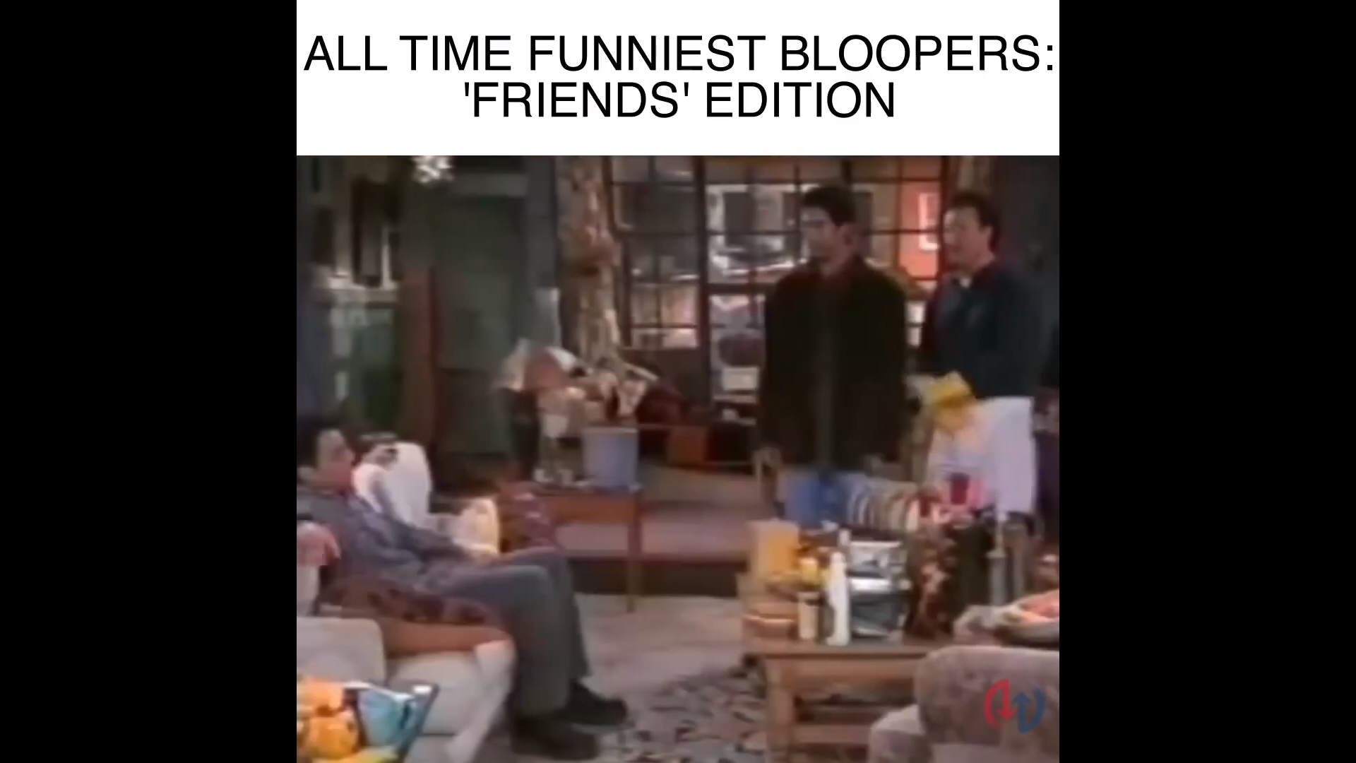 The funniest bloopers from Friends the tv show! Here are some of the funniest moments on Friends. This is a list of the funniest friends quotes and the best episodes of Friends the tv series.