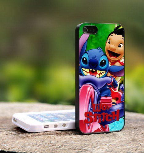 the_custom_art's save of Disney Lilo And Stitch - For iPhone 5 Black Case Cover on Wanelo