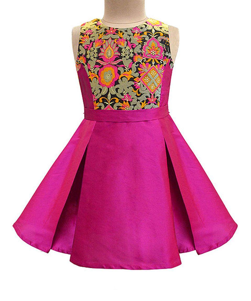 Take a look at this Fuchsia & Taj Floral Pleated Dress - Infant ...