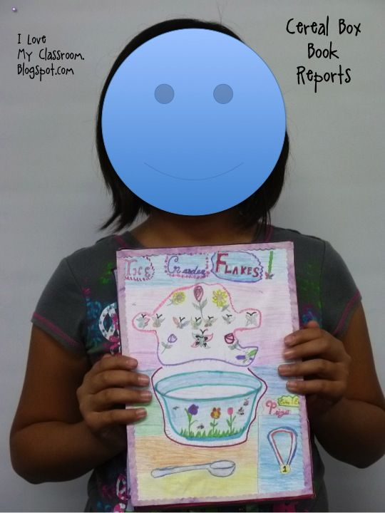 I Love My Classroom Cereal Box Book Report 3rd grade project