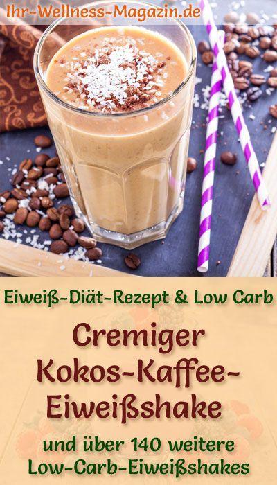 Kokos-Kaffee-Eiweißshake - Low-Carb-Eiweiß-Diät-Rezept #protiendiet
