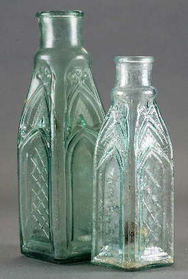 Vintage Glass Gothic Or Cathedral Bottle Styles Antique Glass
