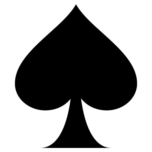 Adhesivo de vinilo pica spade de las cartas de p ker for Pegatinas de vinilo
