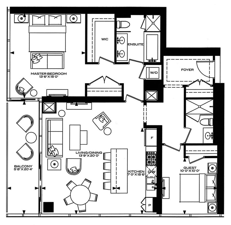 Luxury hotel suite floor plan google search floorplans for Hotel plan design
