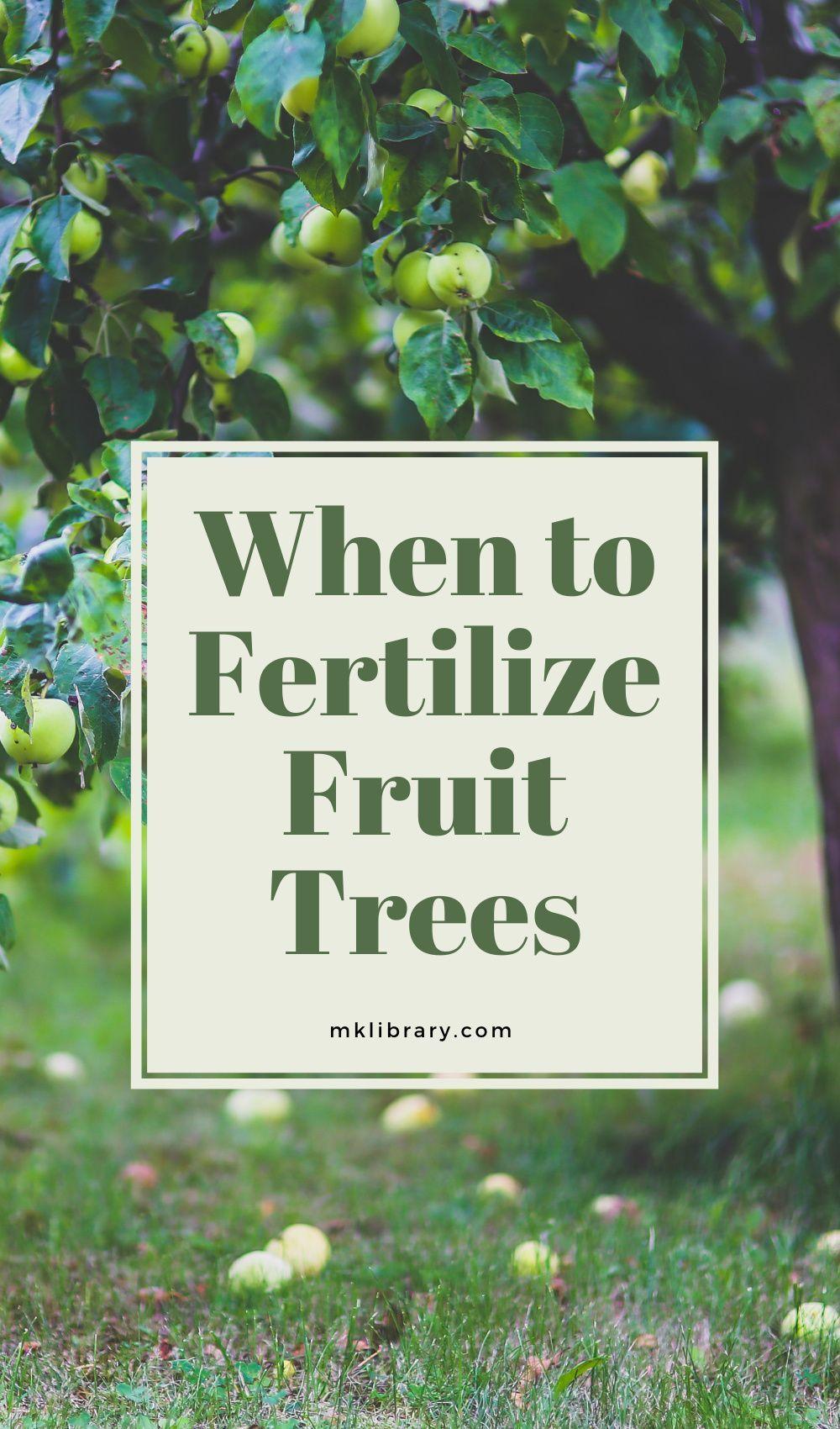 When To Fertilize Fruit Trees Mk Library Fruit Trees Fertilizer For Plants Fruit Garden