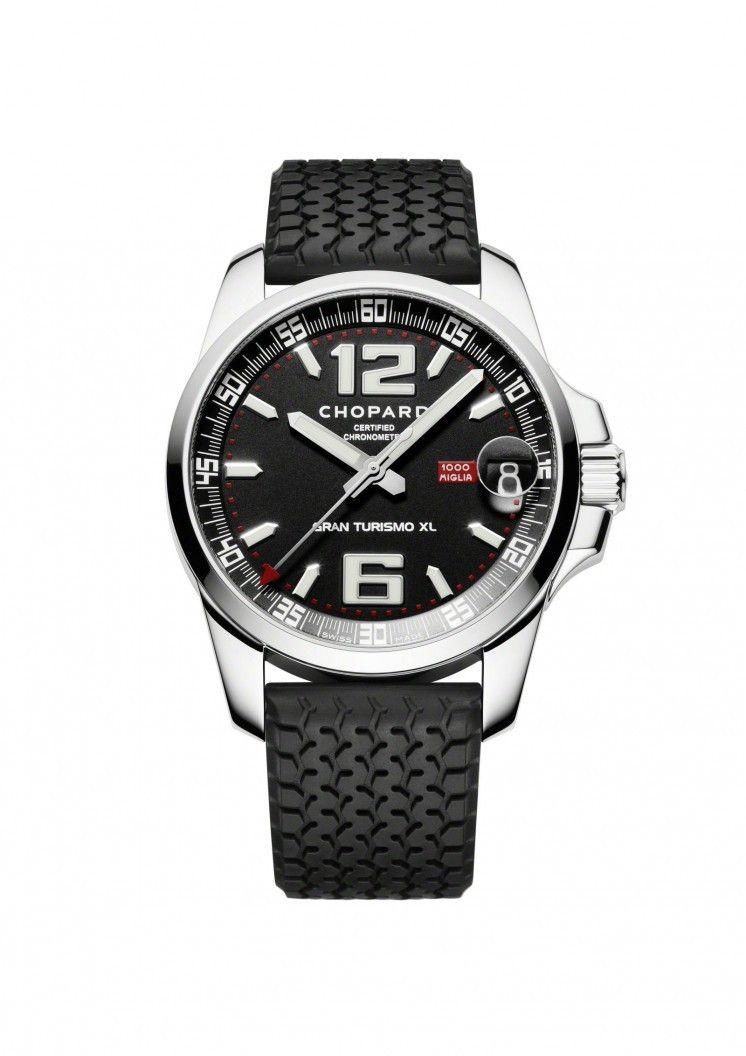 8cc8af0abbaa Chopard Mille Miglia Gran Turismo XL Stainless Steel Black Dial Watch   JRDunn  Jewelry
