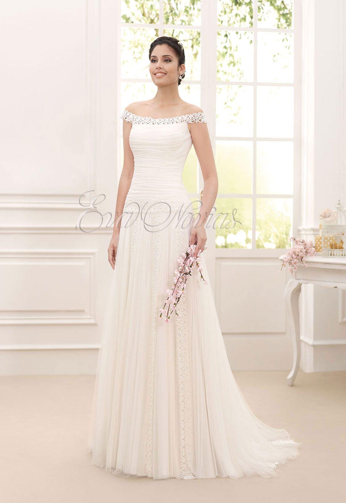 3a6c2e49dc Vestido de novia Novia Dart 2016 Modelo Rabat en Eva Novias Madrid.   weddingdress  vestido  novia  fashionbridal  modanupcial  boda