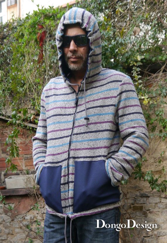 Pattern for sewing Mens hoodiesweater Fun e-book sewing instructions ...