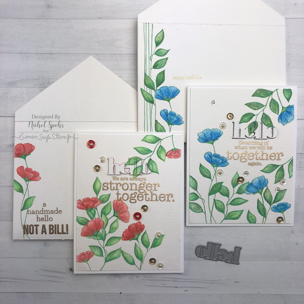 Watercolor Cards Envelopes March 2020 Card Kit Inspiration