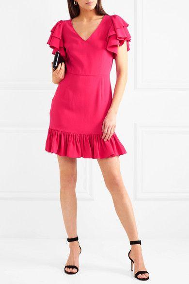 Crepe Mini Stella FuchsiaProducts Mccartney Ruffled Dress LqjSRc354A