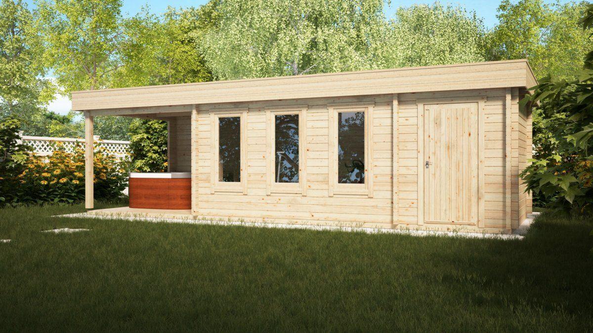 gartenhaus mit schuppen und veranda super jacob e 18m 44mm 3x9m gartenh user pinterest. Black Bedroom Furniture Sets. Home Design Ideas