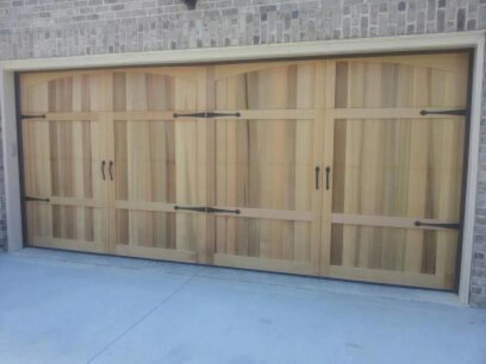 Western Red Cedar Carriage Doors Made By American Garage Door Systems, Inc  Charlotte, NC