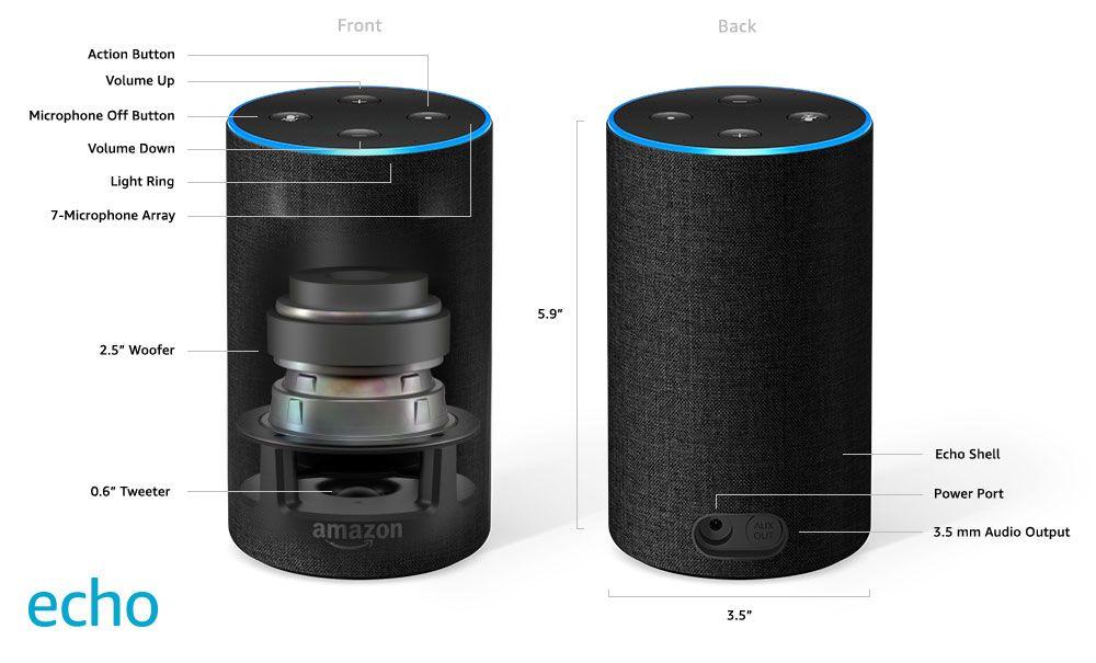 Tech Specs Amazon Echo Alexa App Amazon