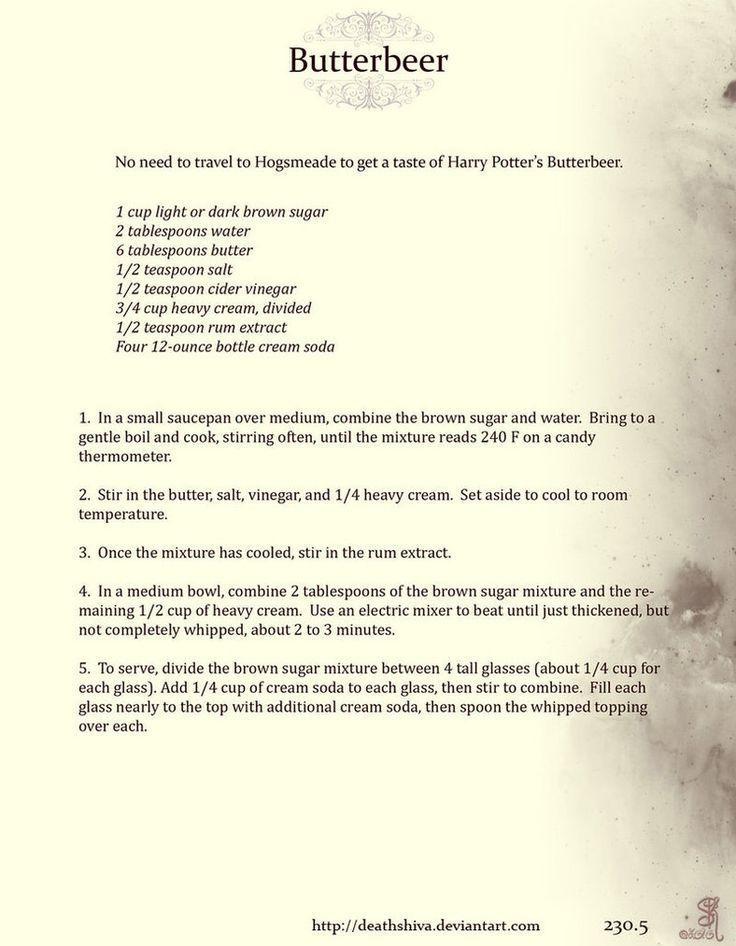 Image Result For Butterbeer Recipe For Parties Harry Potter