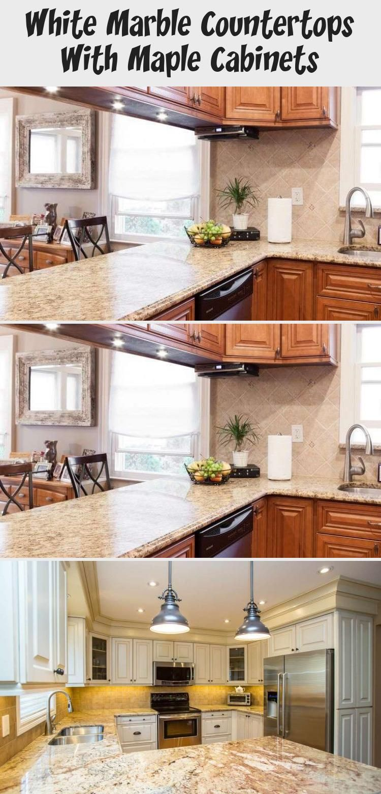 White Marble Countertops With Maple Cabinets | Maple ... on Maple Cabinets With White Granite Countertops  id=72491