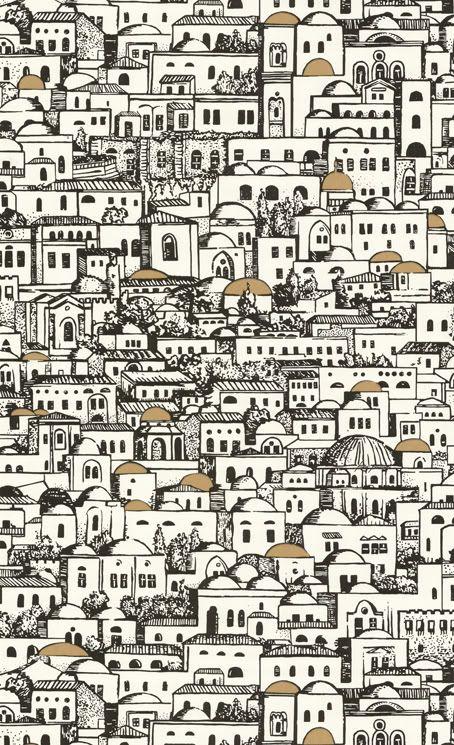Fornasettis Jerusalem Wallpaper One Of My Favorite Things On - Piero fornasetti wallpaper designs
