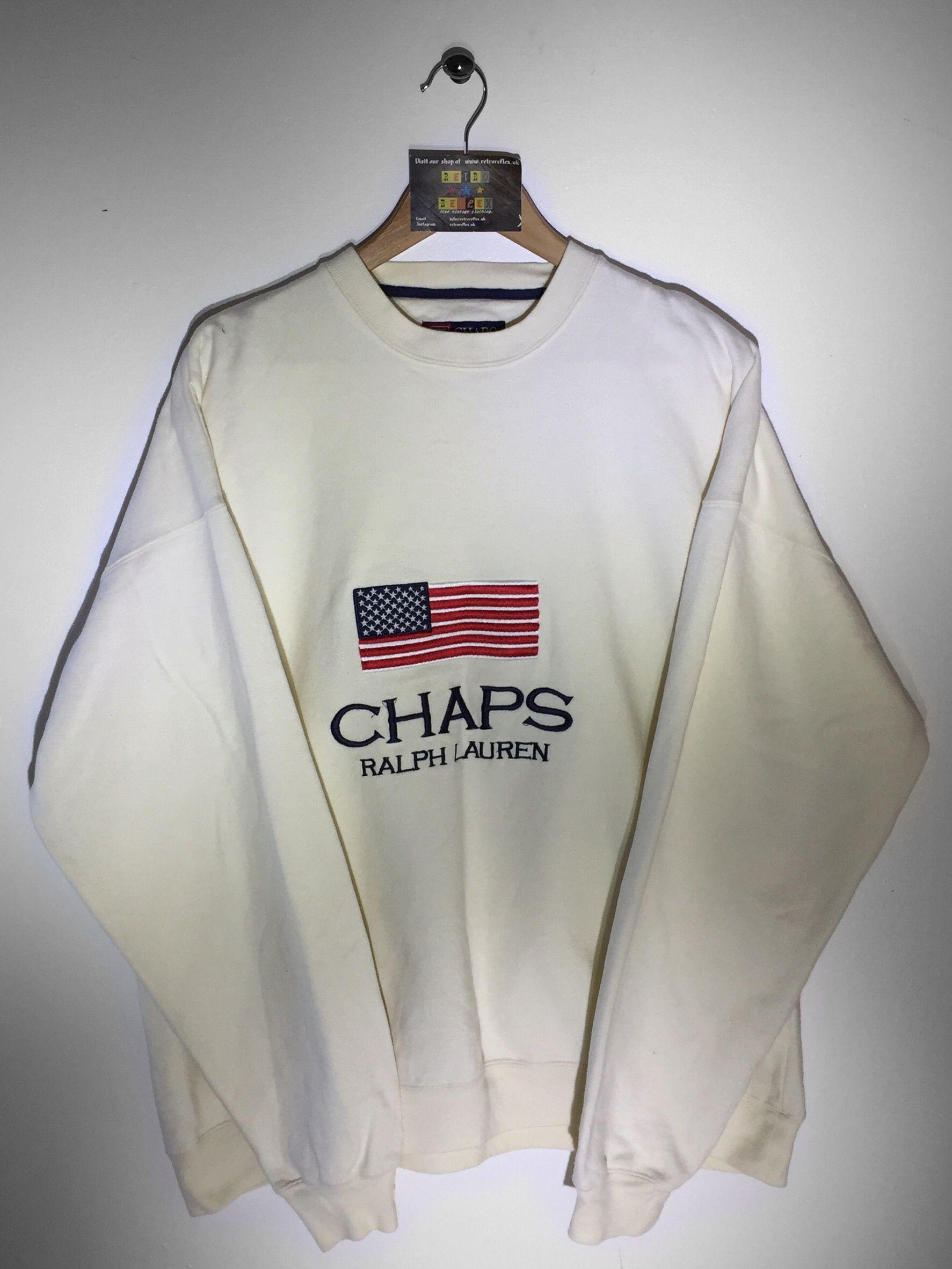 321a3705aab21 Ralph Lauren Chaps sweatshirt size X Large(but Fits Oversized) £60 Website➡  www.retroreflex.uk