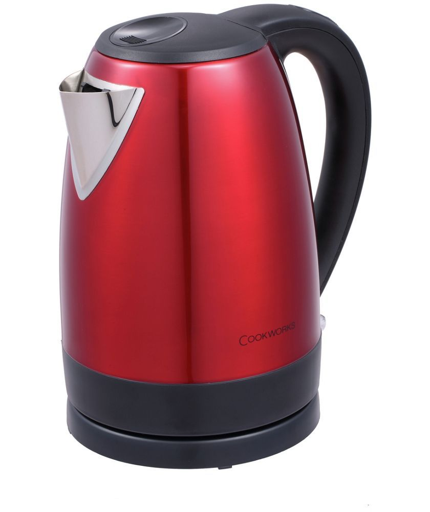 Buy Cookworks Stainless Steel Red Jug Kettle At Argoscouk