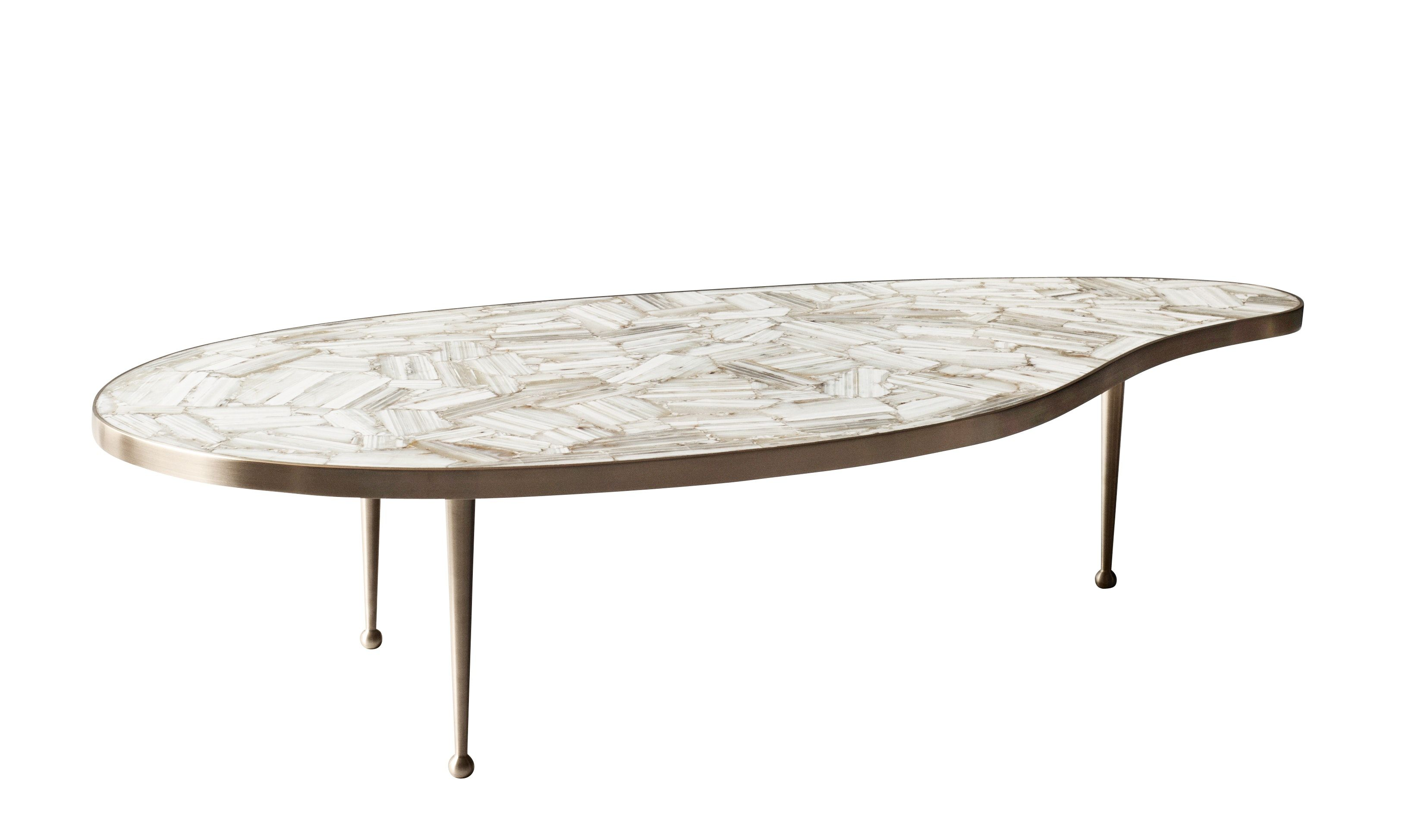 Free Form Brass And Agate Coffee Table 8 Coffee Table Round