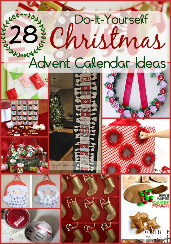 This is the BEST collection of DIY Christmas Advent Calendar Ideas I have seen! I'm so excited for the holidays!