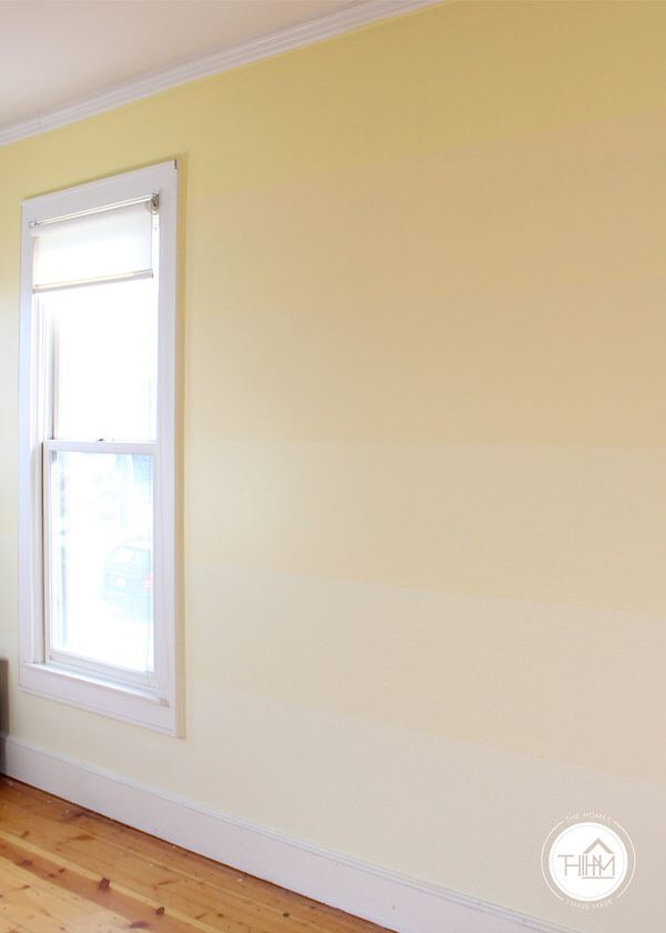 How To: DIY Yellow Ombre Striped Feature Wall | Walls, Lights and ...