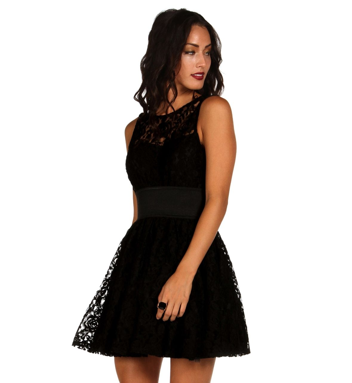Black party the night away dress prom pinterest black party
