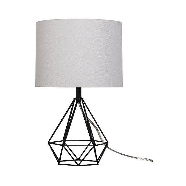 Diamond wire table lamp painted base black 24 liked on diamond wire table lamp painted base black 24 liked on polyvore featuring home lighting table lamps black threshold lamp black diamond lights greentooth Image collections