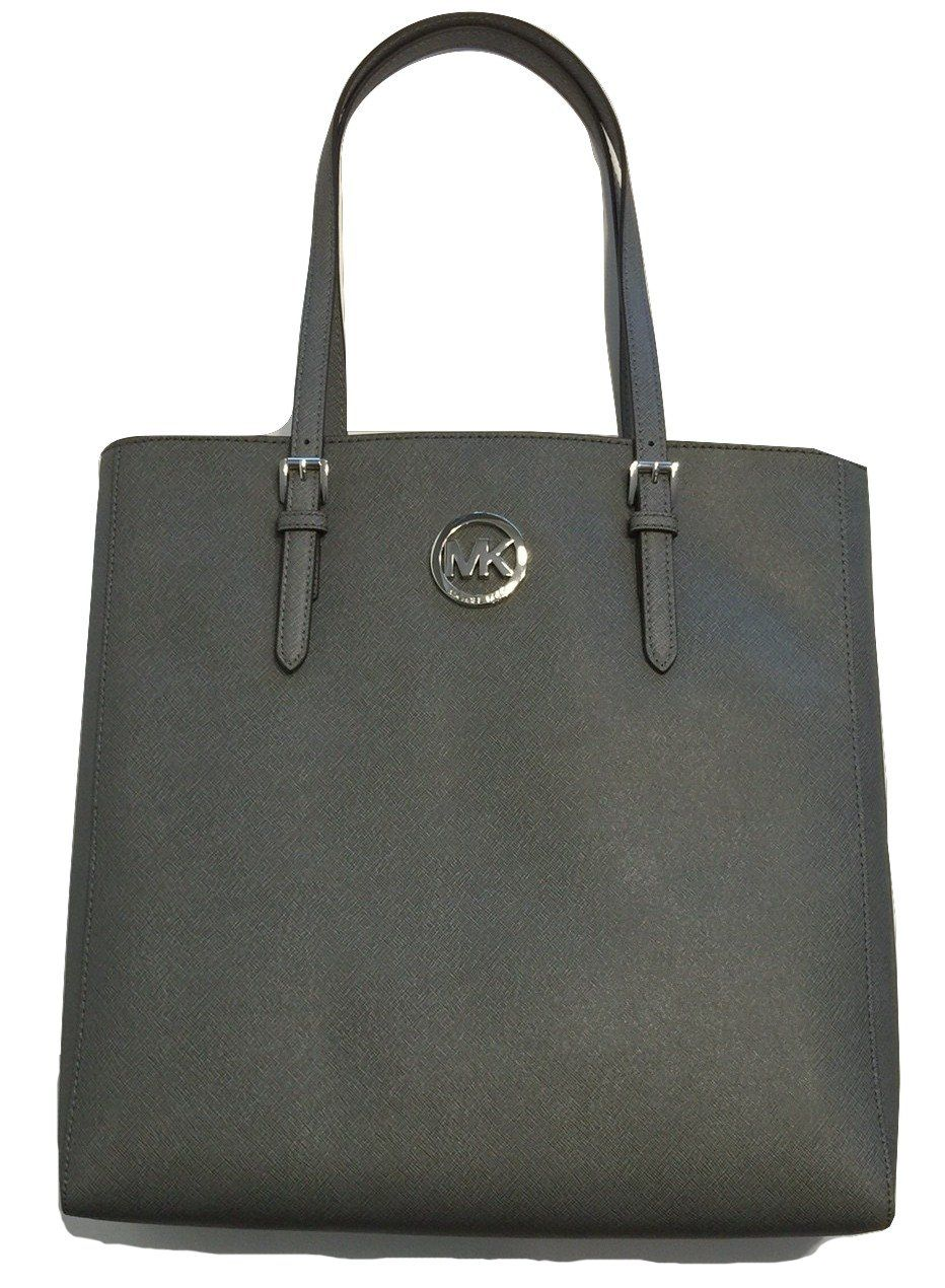 981e889a51f Michael Kors Jet Set Travel Large NS Tote Heather Grey Saffiano Leather   Handbags  Amazon.com