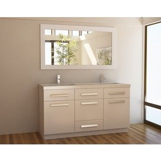 Moscony White 60 Inch Double Sink Vanity Set | Overstock.com Shopping    Great